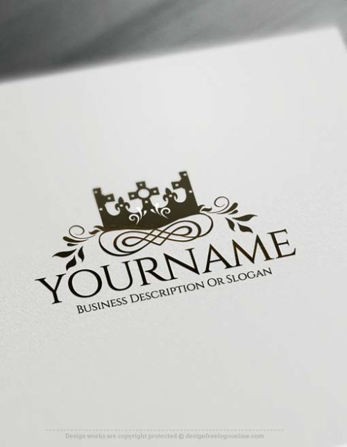 oyalty King Crown logo design using the best Free Logo Maker