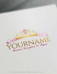 Online Princess Crown logo design – Free Logo Maker