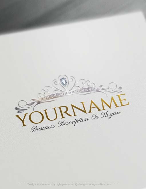 online princess crown logo design free logo maker