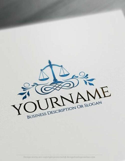 Libra symbol - Free law firm Logo Maker