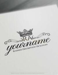 Create Vintage Crown logo design with the Free Logo Maker