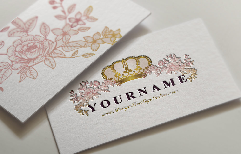 Floral Royal Crown Logo