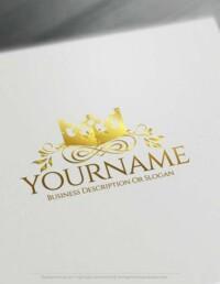 oyalty King Crown logo design using the best Free Logo Maker