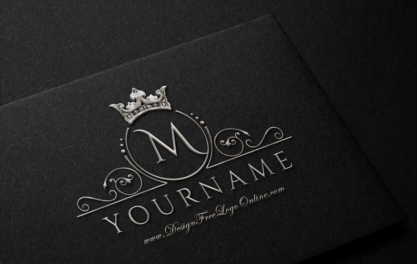 luxury silver crown logo