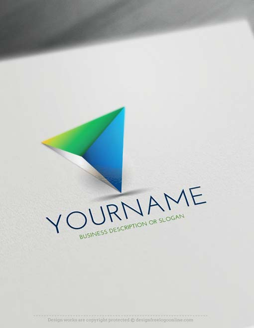 Create 3D Triangular Logo Design with the Free 3D Logo Maker