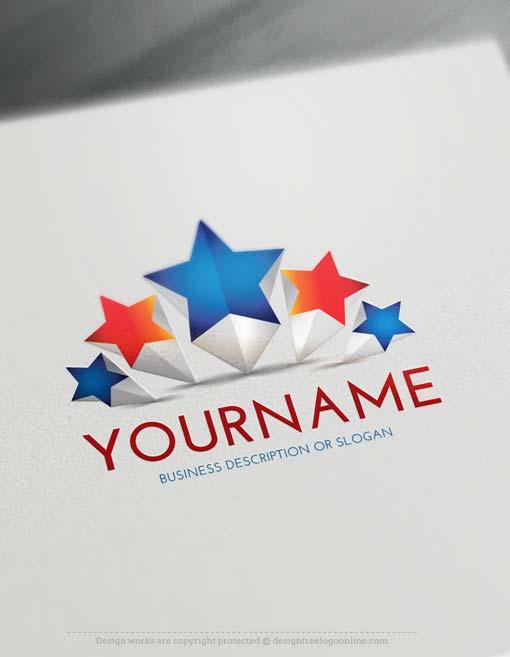 Free 3D Logo Maker - 5 Stars Logo Design