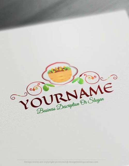Arabic food Logo design