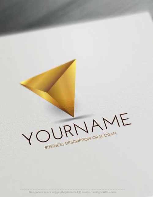 3D Golden Triangle Logos