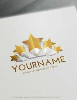 Free 3D Logo Maker - Create 5 Stars Logo Design online