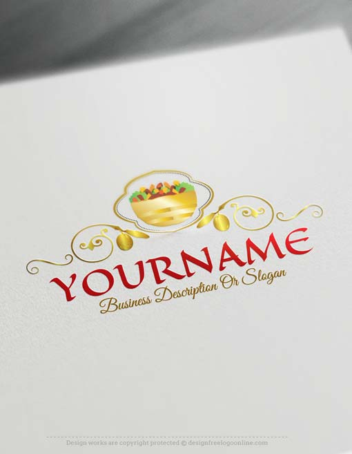 Create Arabic food Logo design with the Free Logo Maker