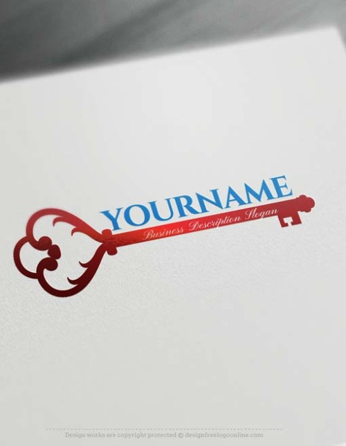 Make Your Own Vintage Key Logo Free with Logo design Maker