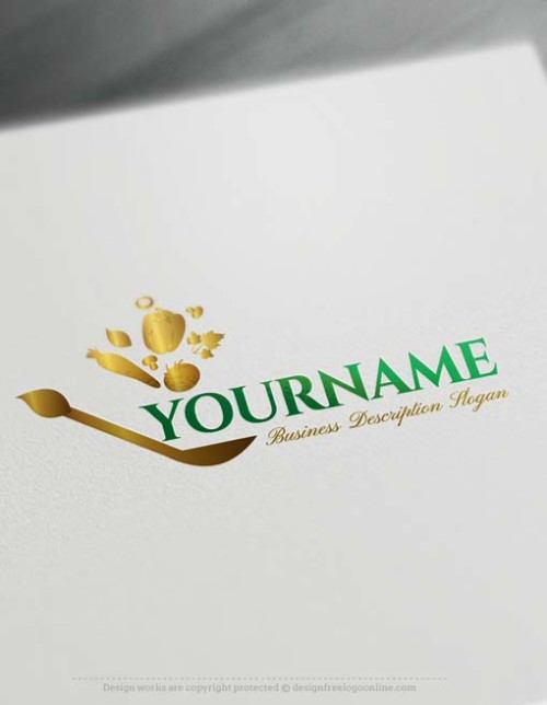Make Healthy Greenery Logo design with Free Logo Creator