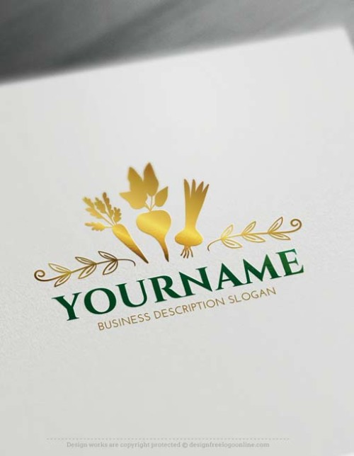 Make Organic Vegetables Logo design with Free Logo Maker