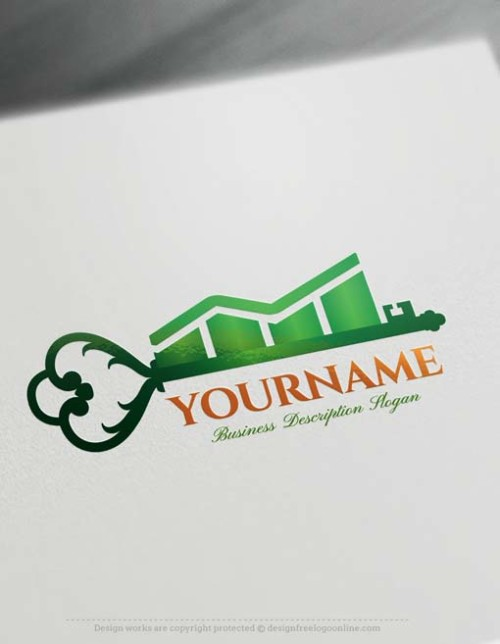 Create financial key Logo Design with Logo Online Maker