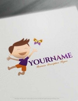 Create Happy Child Logo Design with Logo Online Maker