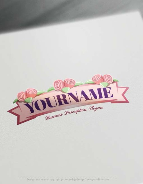 Create flower sugar cake logo with the best Logo design Maker