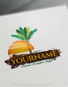Creative Online Free Palm tree Logo Design - Free Logo Maker