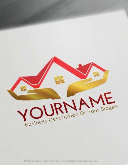 Create Your Own golden House Logo Free with Logo designer