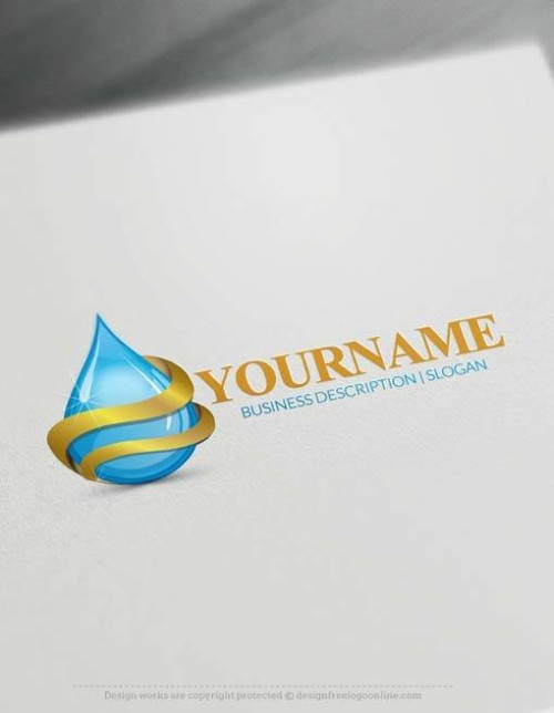 Make Your Own drop of water Logo Free with Logo design Maker