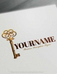 Create Online Free Vintage Key Logo Design - Free Logo Maker