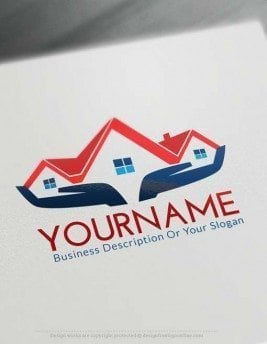 Real estate logos construction logo designs and realty for Draw your own logo free