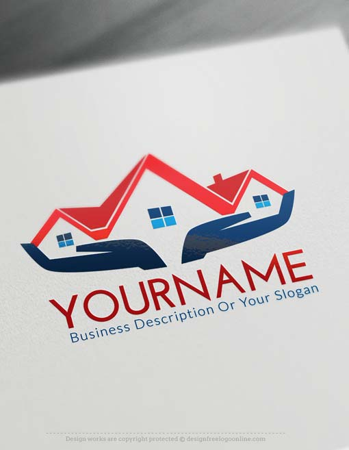 Create your own house logo free with logo designer for Design your own building free
