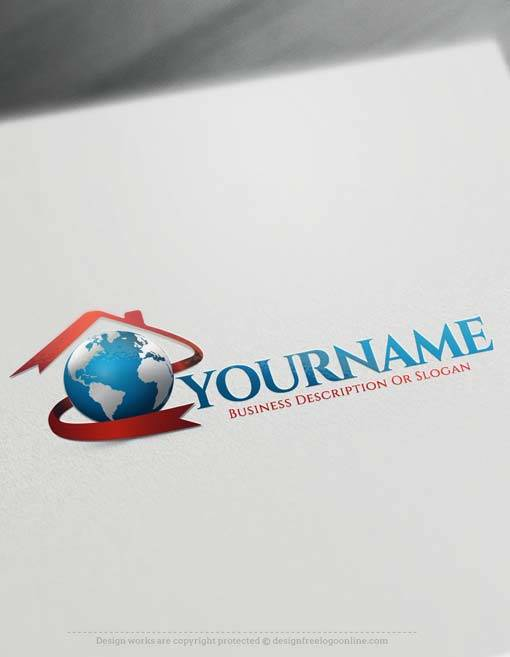 Create your own house logo with free real estate logo creator for Draw your own logo free