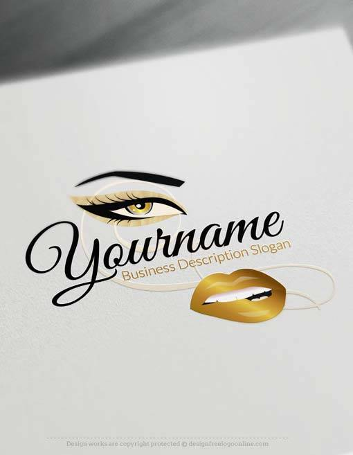 Create Your Own sexy face Logo Free with makeup Logo maker