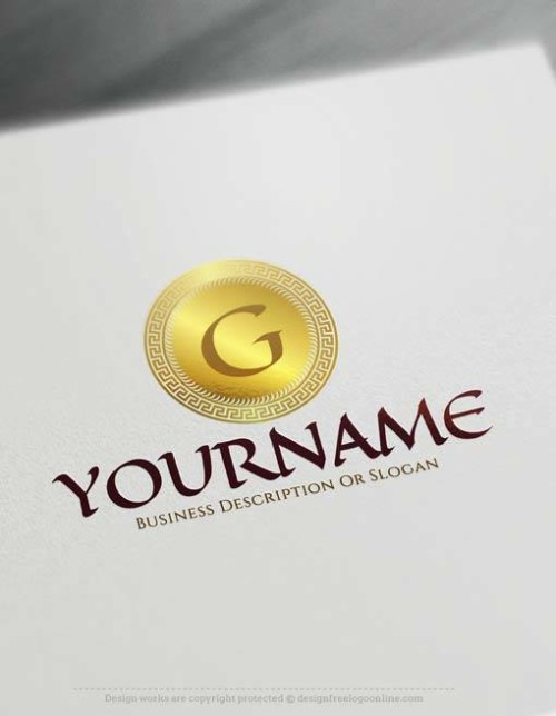 Create online Greek letters Logo Design with Free Logo Maker