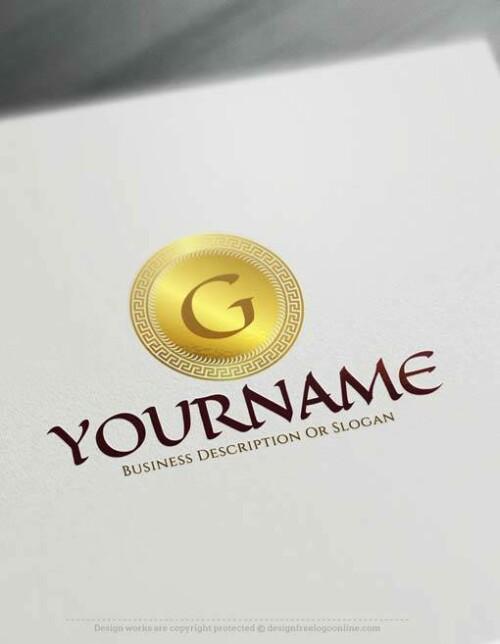 Create online Greek letters Logo Design with Free Logo Maker