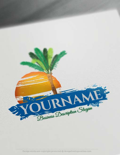 Creative Online Free Palm tree Logo Design - Free Logo Maker