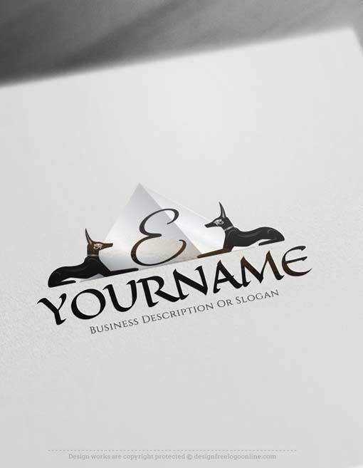 online pyramid Egyptian Logo Free Logos Creator