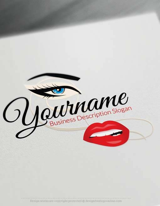 Free makeup artist logo maker mugeek vidalondon for Create design online