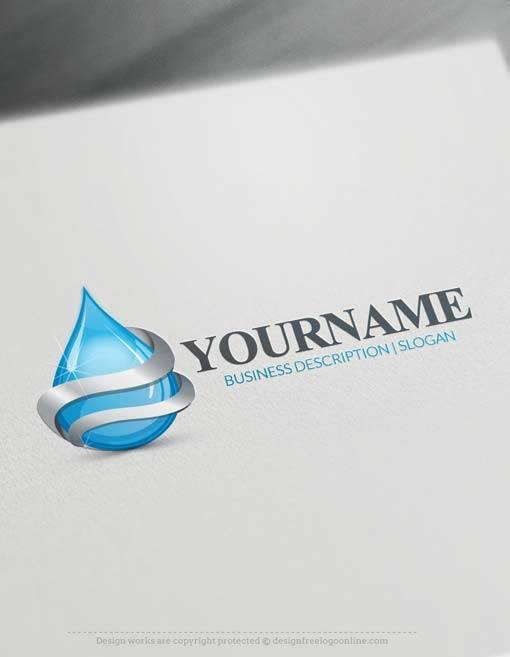 Make 3d Drop Of Water Logo Free With Logo Design Maker