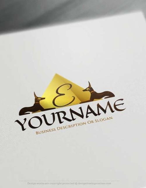 online Egyptian pyramid Logo Free Logos Creator