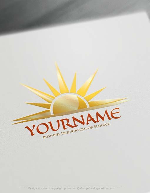 Create online sunset Logo with Free sun Logo Creator