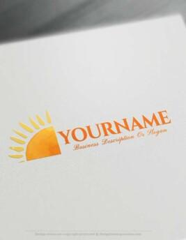 Create online golden sun Logo Design with Free sun Logo Maker