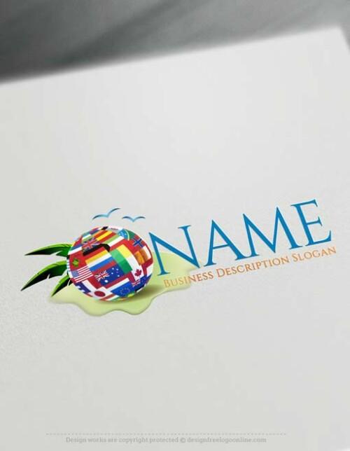 Online Travel Logo. Free Logo Generator