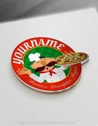 Create online Italian Pizza Logo Design with Free Logo Maker