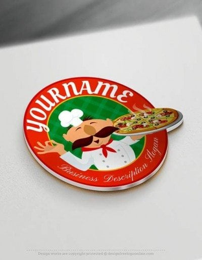 Create online Italian Pizza Logo Design with Free Logo Maker