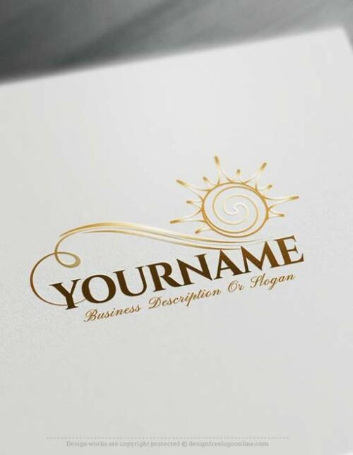 Online Design sun Logo design with Free Logo Creator
