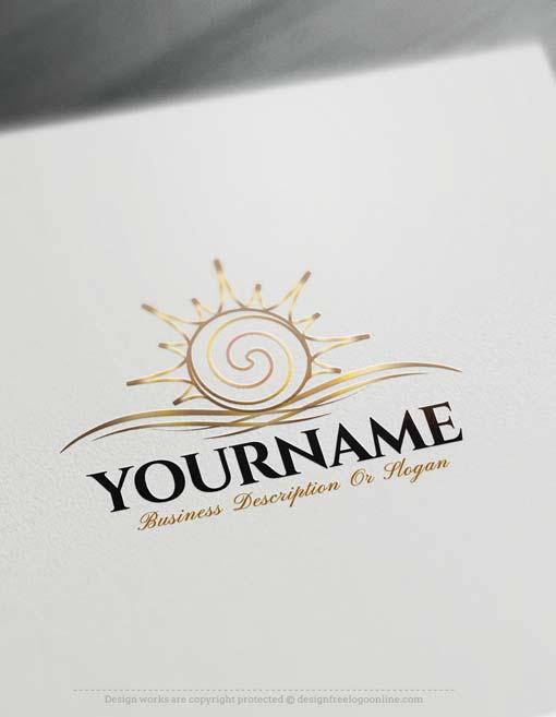 Create online sun Logo online with Free sun Logo Creator