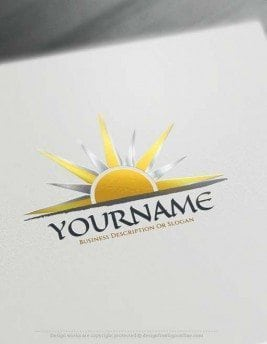 Create online sunset Logo with Free sun Logo Creator