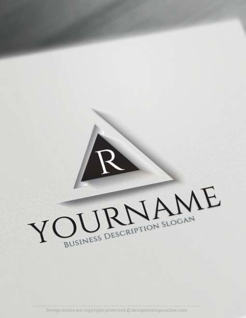 3D Logo Maker - Free 3D Triangular Logo Template
