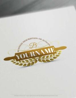 Create rolling pin Logo Design online with Logo Creator Free