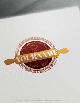 Design Bakery Rolling-pin Logo online with Free Logo Creator