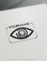 Design yourself focus eye Logo online with free logo generator