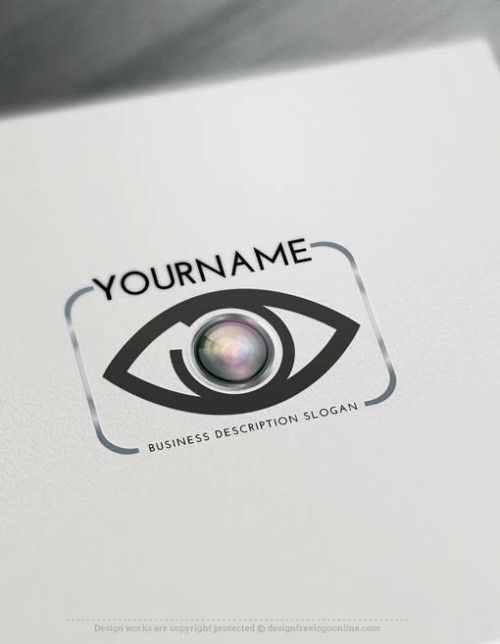 Design yourself focus eye Logo online with free logo generator