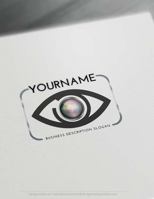 Create focus eye Logo online with Logo Creator Free