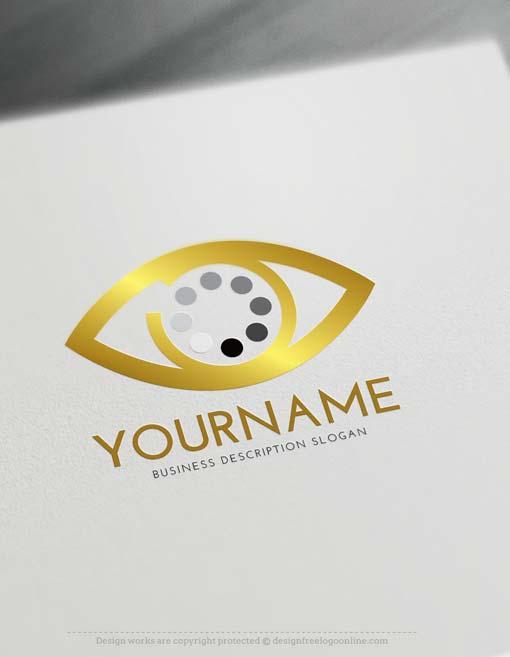 Create search eye Logo online with Logo Creator Free